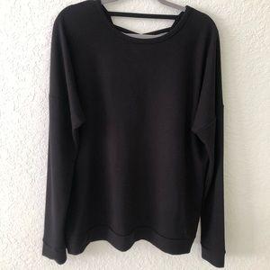 Everlast Black Sweater Crossback XL NWOT